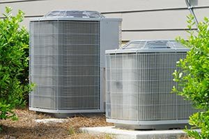 HVAC units outside a residential home