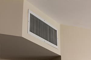 swamp cooler vent in home